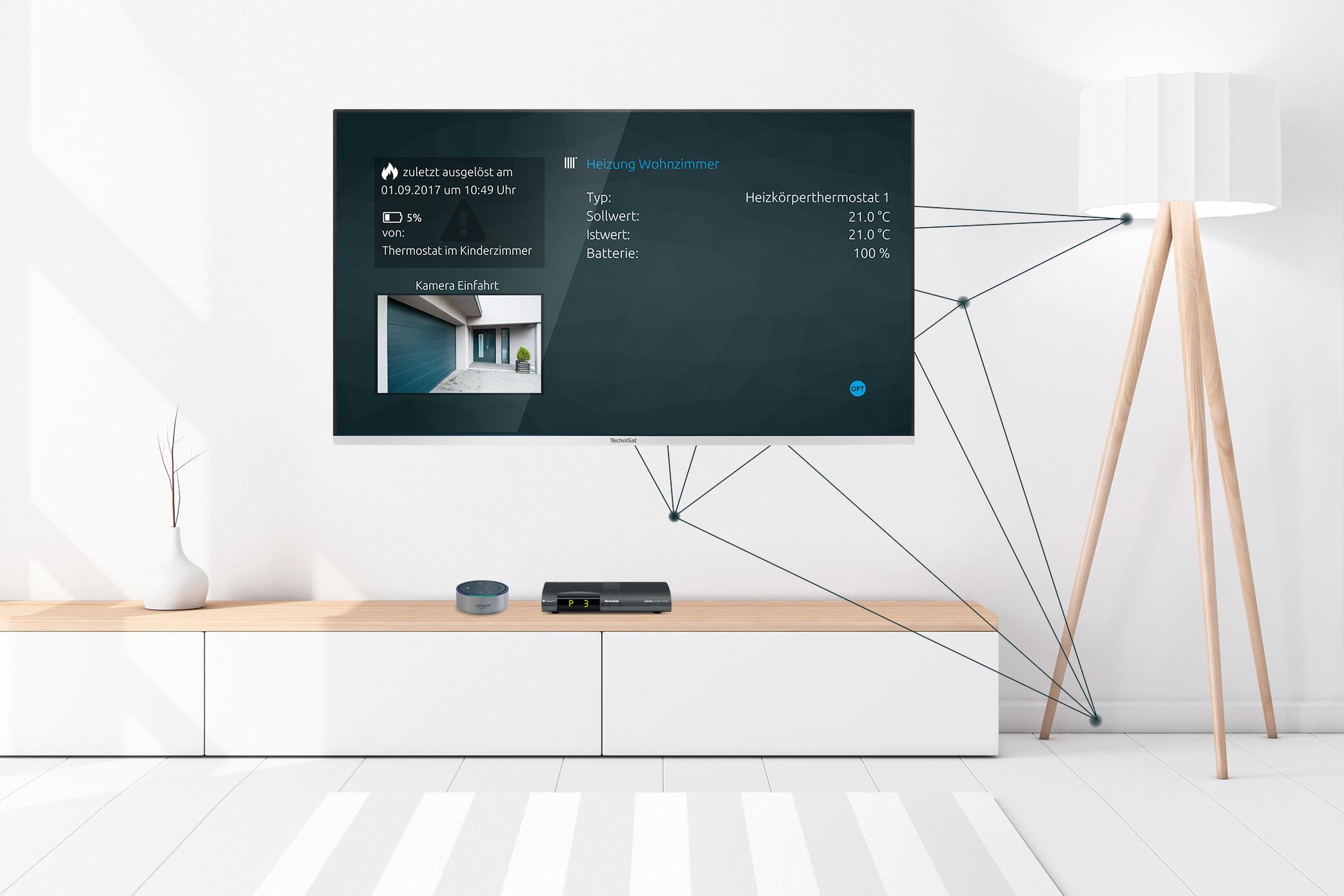 So können Sie das TechniSat Smart-Home-System über die Alexa-Sprachsteuerung bedienen.