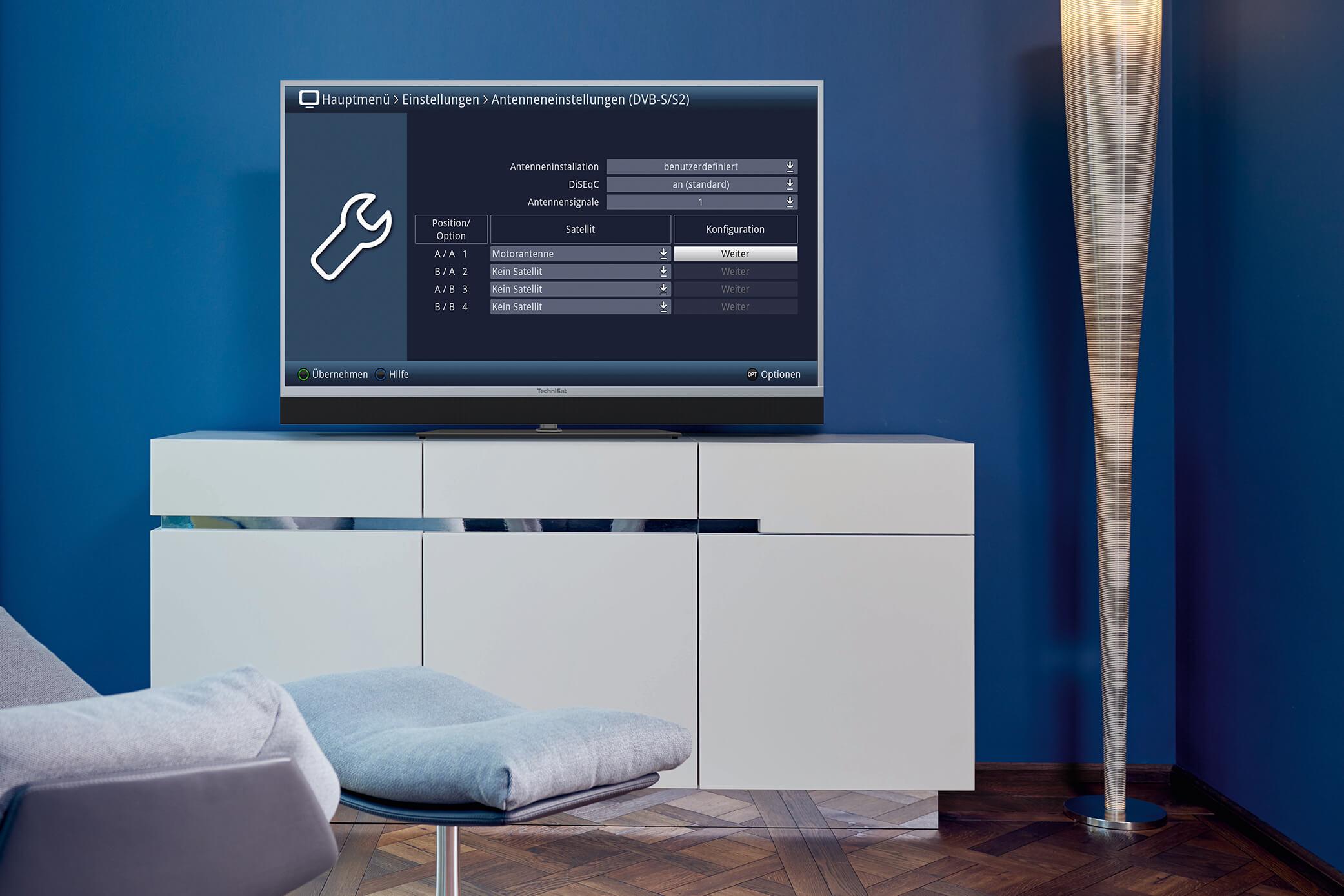 TV-Geräte mit integriertem Sat-Tuner