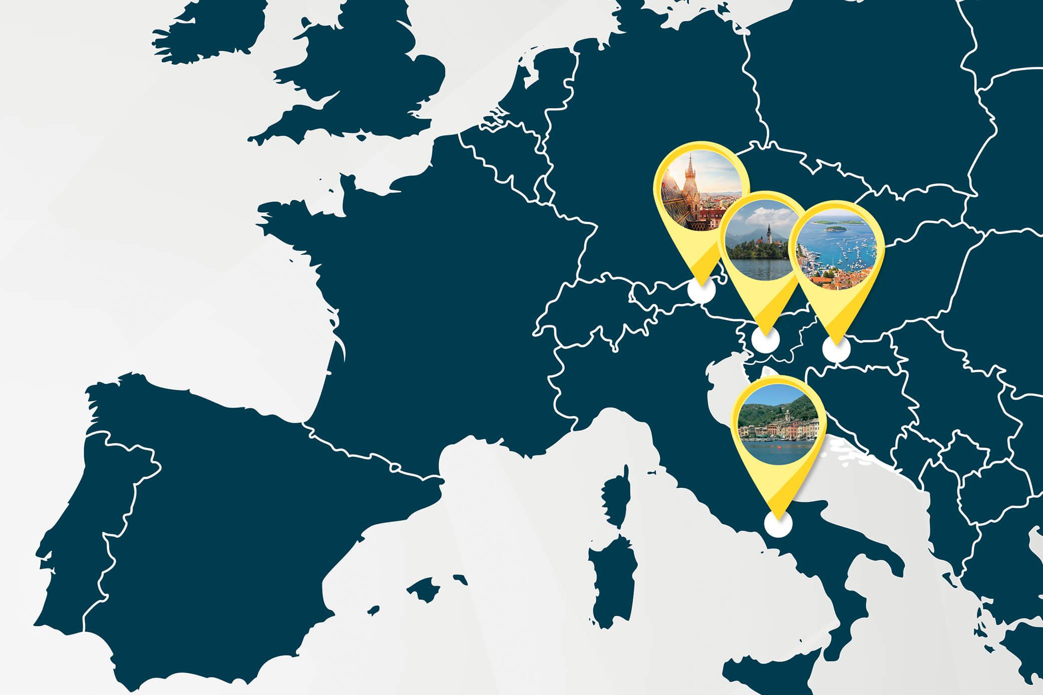 Ihre Rundreise durch Europa – Teil 1
