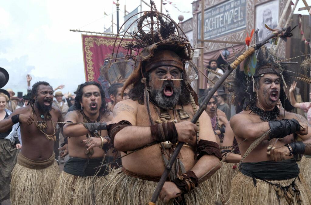 Die zur Schau gestellten samoanischen