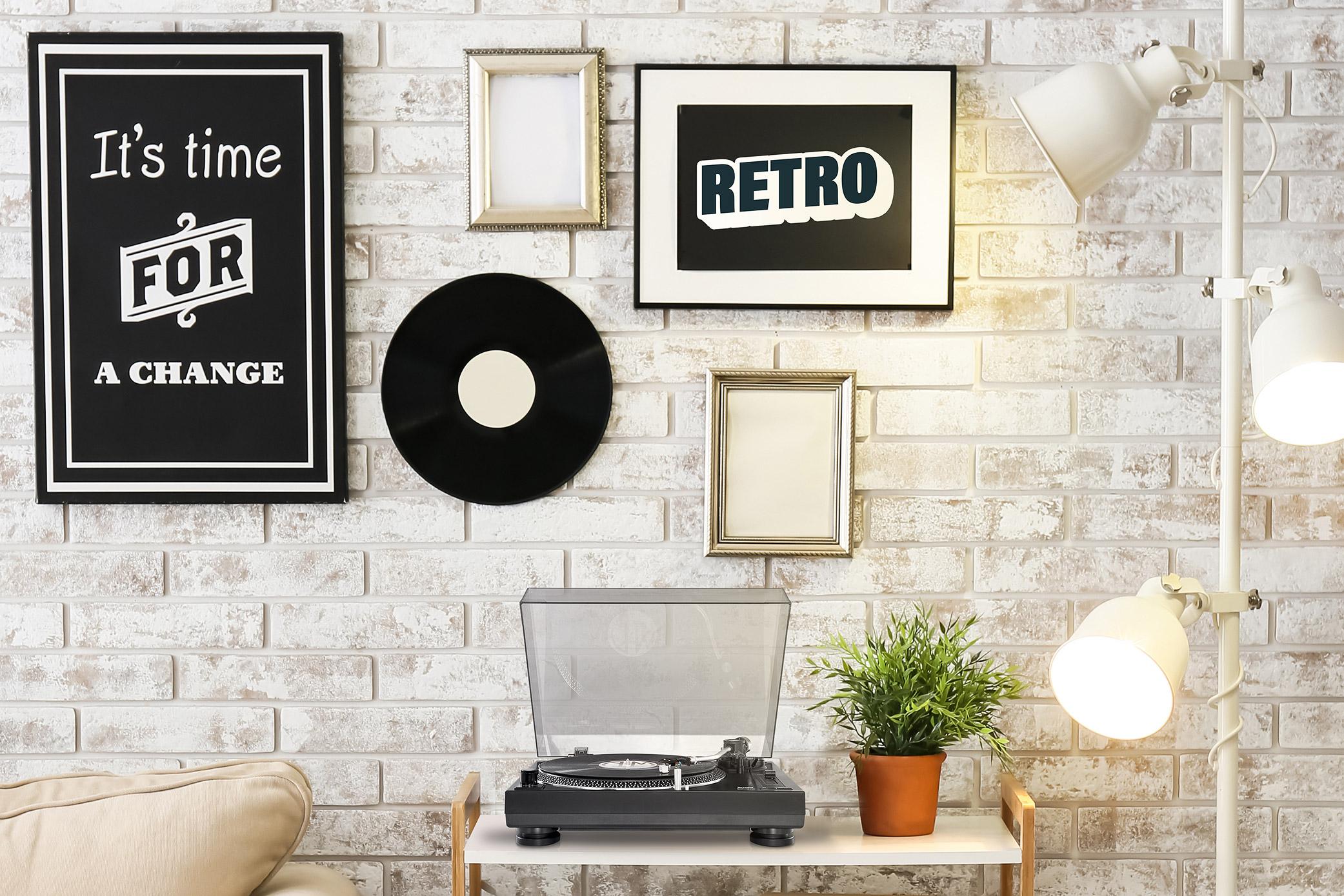 Retro Plattenspieler sind voll im Trend