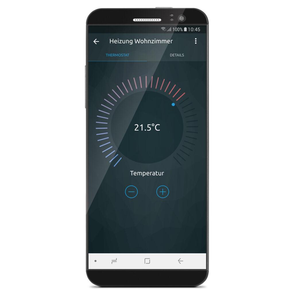 Intuitive Benutzeroberfläche der CONNECT App