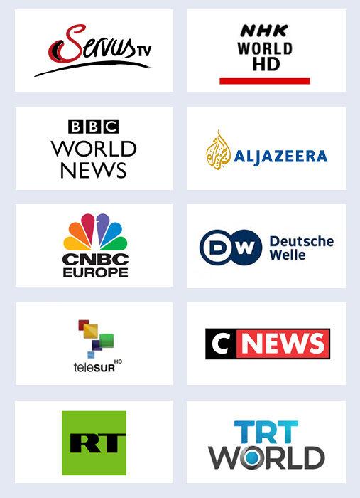 Senderlogos Perlen Nachrichtenprogramme
